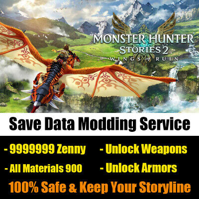 AU23.02 • Buy Switch Monster Hunter Stories 2 Wings Of Ruin Mod, Get All Items, MHST 2 Eggs