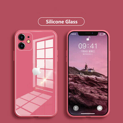 AU11.99 • Buy For IPhone 12/Pro/Max/Mini 11 XS XR 8 Tempered Glass Back Silicone Case Cover