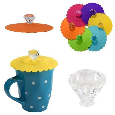 £6.97 • Buy 4X Silicone Cup Lid Glass Drink Cover Anti-dust Coffee Seal Caps Mug Suction UK