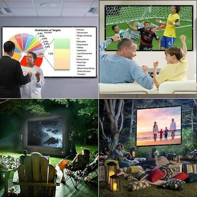 AU20.88 • Buy Foldable Projector Screen 16:9 HD Outdoor Home Cinema Theater 3D Movie 60-120
