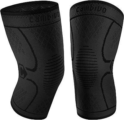 $21.53 • Buy CAMBIVO 2 Pack Knee Brace, Knee Compression Sleeve Support For Men And Women, Ru