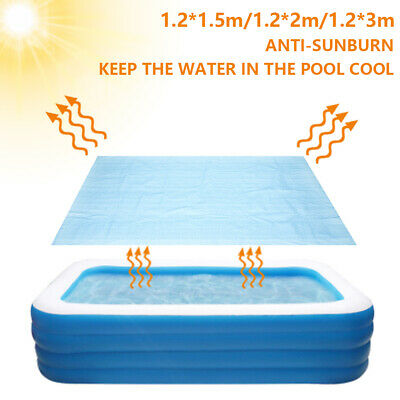 £10.41 • Buy Swimming Pool Solar Rectangle Cover Heat Retaining Waterproof And Dustproof NEW