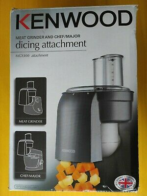 £63 • Buy Kenwood Meat Grinder & Chef/Major Dicing Attachment MGX400 Makes 10mmx10mm Cubes