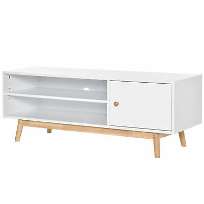 £66.99 • Buy HOMCOM TV Unit Cabinet Media Console Table Stand With Shelves And Door White