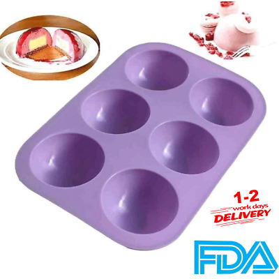 £2.98 • Buy Semi Sphere Half Round Silicone Bakeware Mould Dome Chocolate Bombe Pan UK