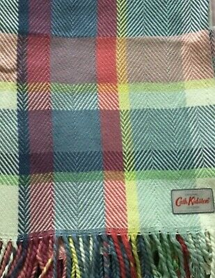 £60 • Buy ❤️Cath Kidston Vintage Checked Throw Blanket Picnic Rug New Without Tags Rare❤️