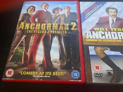 £1.84 • Buy Anchorman 1 And 2   Dvd    Will Ferrell