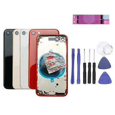 £15.50 • Buy For IPhone 8 Rear Back Housing Chassis Metal Frame Glass Cover Replacement