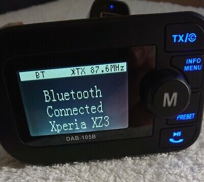 £26 • Buy In-car Dab Receiver With Bluetooth Fm Transmitter {LISTING ENDS 9AM 16/06/21}