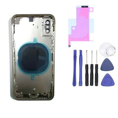 £25.50 • Buy For IPhone X Metal Frame Rear Back Chassis Housing Glass Cover Replacement Parts