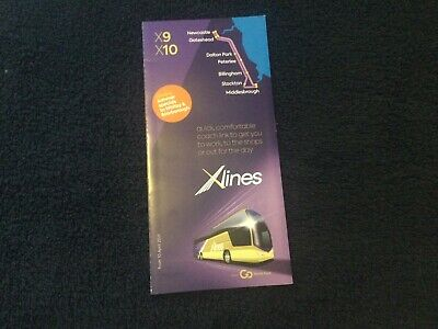£2 • Buy Go North East X9 X10 X11 Timetable Leaflet