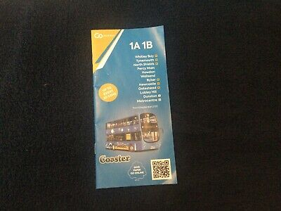 £2 • Buy Go North East Coaster 1A 1B Timetable Leaflet