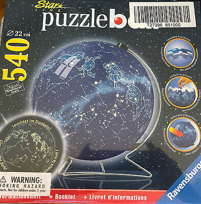 $94.99 • Buy Star Line Puzzle Ball Ravensburg 540 Pieces Glows New Sealed