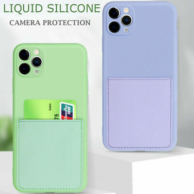 AU12.90 • Buy CARD HOLDER Case For IPhone 12 Pro Max XR 11 7 8 X Shockproof Cover Wallet Money