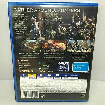 AU19.99 • Buy PlayStation 4 PS4 Game : MONSTER HUNTER WORLD ! FAST POSTAGE! CHEAP ! LIKE NEW !