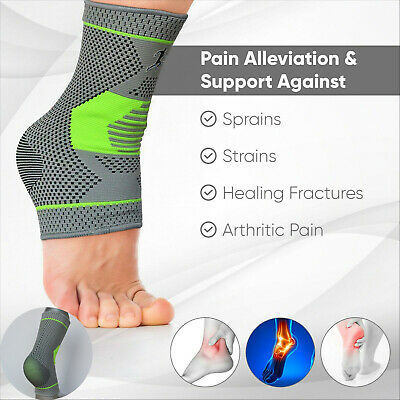 £3.59 • Buy Ankle Plantar Fasciitis Foot Compression Ankle Support Heel Arch Protector UK