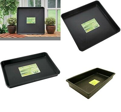£10.99 • Buy Garland S/L/XL Garden Plant Pot Watering Spill Growbag Seed Tray Black Plastic
