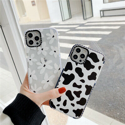 AU13.96 • Buy For IPhone 12 11 Pro Max 8 7 SE XS XR Cute Cow Print Back TPU Phone Case Cover