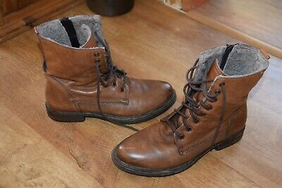 £25 • Buy Ladies Clarks Orinoco Leather Tan Brown Ankle Boots Fleece Lined UK 6 1/2