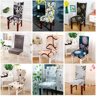 AU19.99 • Buy Stretch Spandex Chair Covers Removable Slipcovers Seat Cover Dining Decor