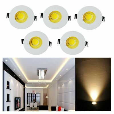 £12.99 • Buy 5 X 3w LED Recessed Small Cabinet Mini Spot Lamp Ceiling Downlight Kit Fixture