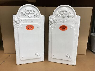 $ CDN95.67 • Buy Blow Mold Halloween Gravestone Don Featherstone Union Products Lot Of 2