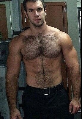 $ CDN5.02 • Buy Shirtless Male Muscular Hairy Chest Abs Beefcake Beefy Dude Body PHOTO 4X6 C576
