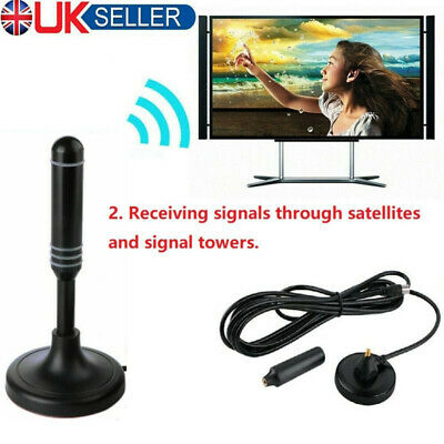£4.99 • Buy Portable TV Digital HD Freeview Aerial Ariel DAB/FM Indoor Outdoor Car House 1PC