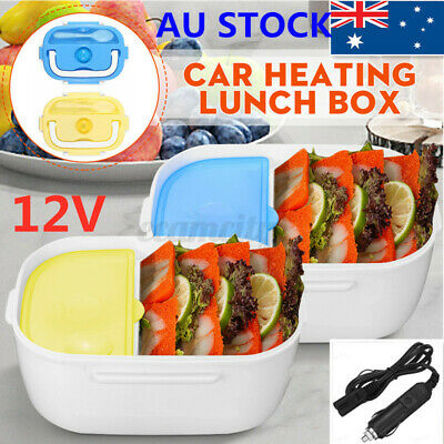AU16.19 • Buy 12V Electric Lunch Box Insulated Bento Heating Heated Food Warmer Container Heat