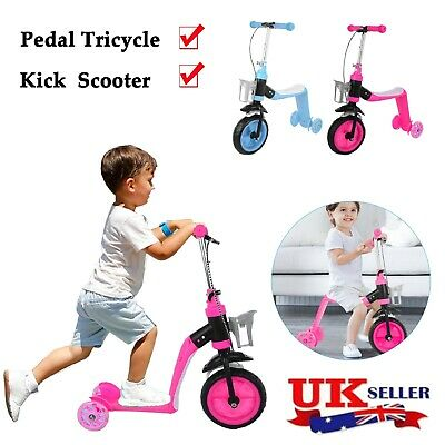 £22.15 • Buy Kids Tricycle Trike Children Smart Toddler Ride On 3 Wheels Canopy Handle Safety