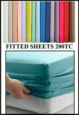 £16.49 • Buy EURO IKEA KING SIZE FITTED SHEET (63 X 78 ) 160cm X 200cm 13
