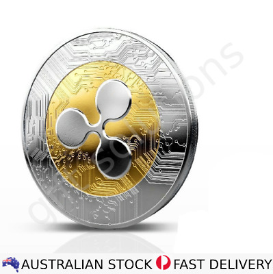 AU12.90 • Buy Ripple Coin - XRP Commemorative Collectors Coin With Case