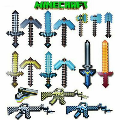 AU16.99 • Buy Real For Minecraft Toys Diamond Large Sword Pickaxe EVA Weapons Kids Gift Game