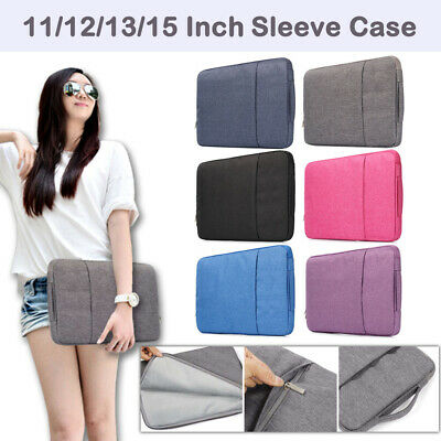$12.30 • Buy  Pouch Sleeve Case Cover Laptop Bag For MacBook Air/Pro/Retina Lenovo Dell Asus