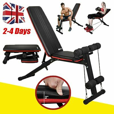 £39.99 • Buy Adjustable Weight Bench Gym Workout Flat Incline Decline Sit Up Lifting Folding