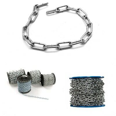 £6.38 • Buy Hot Dipped Galvanised Steel Chain 2 Mm - 12 Mm Heavy Duty Durable Security Links