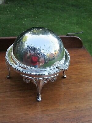 £39.99 • Buy Silver Plated Butter Or Caviar Dish Glass Liner Best Silver Plate Hand Engraved