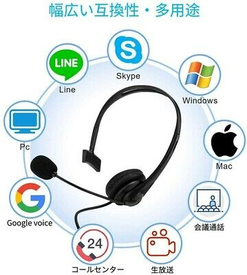 £10.96 • Buy Wired Computer Headset Microphone Fit Call Center Office Skype Google Voice Home