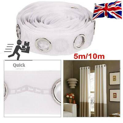 £9.49 • Buy 10M Curtain Header Tape 80 Rings Liner Accessories Sewing Silver Curtains Blinds