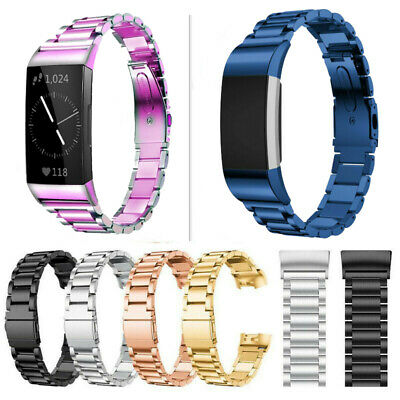 AU17.99 • Buy For Fitbit Charge 4/3/3 SE/2 Stainless Steel WristStrap Bracelet Gift Watch Band