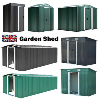 £238.99 • Buy Metal Garden Shed Outdoor Bike Storage House 5x3ft 6x4ft 8x6ft Tool Sheds NEW
