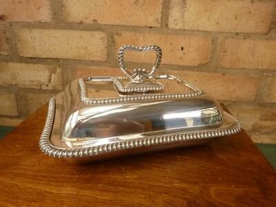 £32.99 • Buy Nice Vintage Lee And Wigfull Serving Tureen Entree Dish Silver Plated EPNS