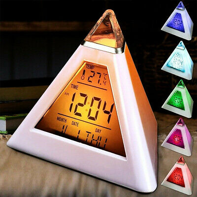 £5.29 • Buy Alarm Clock Novelty Cool Gadget LED Digital Changeable Night Light Time For Kid