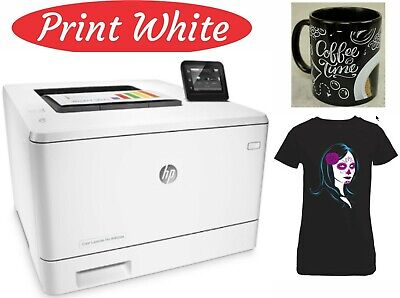 AU850 • Buy Hp M452dw Printer With 8k Ghost White Toner Cartridge.for T-shirts & Transfers