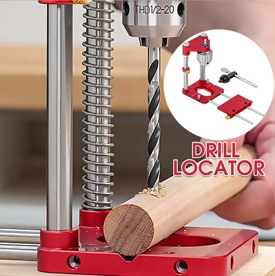 £20.98 • Buy Woodworking Punch Locator Drill Guide Adjustable Hole Drilling Template Tool UK