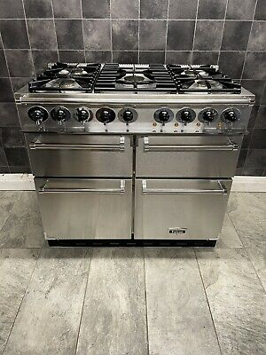 £1050 • Buy LPG FALCON DELUXE 100 CM DUAL FUEL RANGE COOKER IN STAINLESS Steel AND CHROME