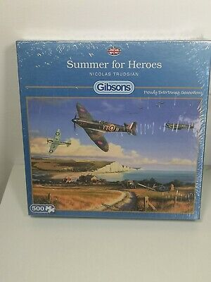 £12.99 • Buy Summer For Heroes Jigsaw Puzzle 500 Gibsons Spitfire RAF War Hurricanes Aircraft