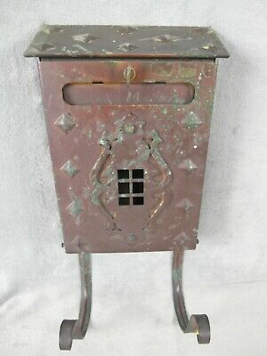 $69.99 • Buy Vintage Ornate Arts And Crafts Wall Mount Mailbox Antique  Brass