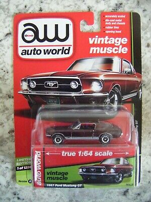 AU14.27 • Buy AUTO WORLD MODERN MUSCLE 1 OF 1256pcs #2 VERSION B 1967 FORD MUSTANG GT BURGANDY