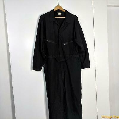 $34.99 • Buy TOPPS Workwear L/S Cotton Work Coveralls Jumpsuit Mens Size 2XL 50/52 Black